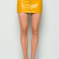 Pretty Little Thing Faux Leather Mini Skirt
