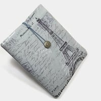 Hand Crafted Tablet Case from Eiffel Tower  Fabric/Case for iPad, Kindle HD , Nook HD, Samsung Galaxy Tab, Nexus