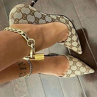 GG Pointed sexy high heels