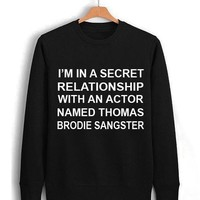 relationship with thomas brodie sangster Unisex Sweatshirts