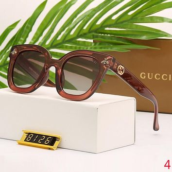 Gucci Stylish Summer Women Bee Delicate Transparent Sunglasses Sun Shades Eyeglasses Glasses Coffee I12603-1