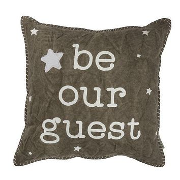 Be our Guest   16x16 Pillow & Insert   Home Decor   Meditation   Throw Pillow   Graduation Gift   Primitive Decor   Gift for Her