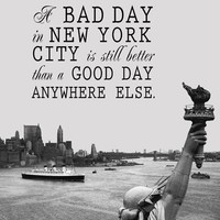 Better Than Anywhere Else  New York City 11 x 14 by 3LambsGraphics