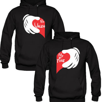 BE MY VALENTINE DESIGN LOVE Couple Hoodies