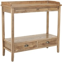 Peter Console With Storage Drawers Oak