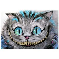 Cheshire Cat Art Print by Artist Manuela Lai