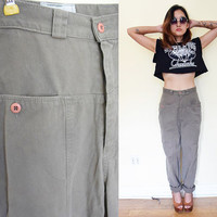 "Vintage  28"" 90's CALVIN KLEIN loose fit tapered legs oversized mechanic pants khaki."