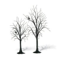 Department 56 Spooky Spider Trees, Set of 2