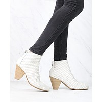 Sbicca - Parkman Woven Leather Booties in White