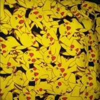 Good Cartoon Pikachu Fabric Cotton/Lycra knitted Fabric Stretch Yellow  Pikachu Print Fabric DIY Sewing T-shirt ClothingKawaii Pokemon go  AT_89_9