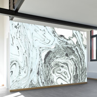 Marbled Mint Wall Mural