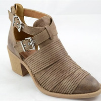 Cut Out Booties - Taupe