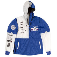 Club Foreign Britain Two Tone Windbreaker White / Blue