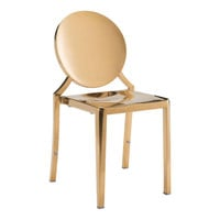 ECLIPSE DINING CHAIR GOLD PACK OF 2