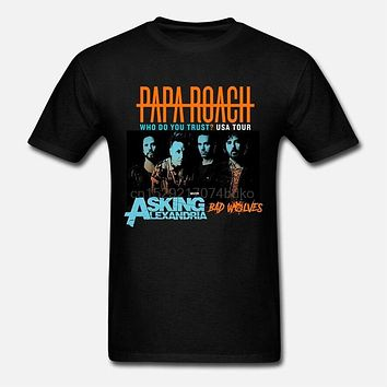 New papa roach usa tour with asking alexandria bad wolves 2019 T SHIRT S 5XL(2)|T-Shirts