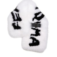 Logo fox-fur buckle-fastening stole | Fendi | MATCHESFASHION.COM US