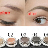 New Makeup Eyebrow Powder Waterproof Eyebrow Filler Eyebrow Cream 4 0g Eyebrow Gel