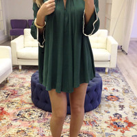 Blooming Gardens Emerald Trapeze Dress