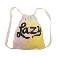 LAZY Tie-Dyed Drawstring Backpack