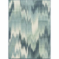 Oriental Weavers Transitional Colorful Blue Polypropylene Abstract Machine-Woven Area Rug