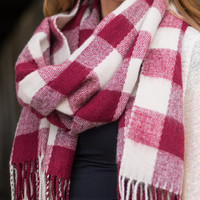 The Hayride Scarf, Red