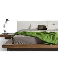 Walnut Opal Modern Low Bed