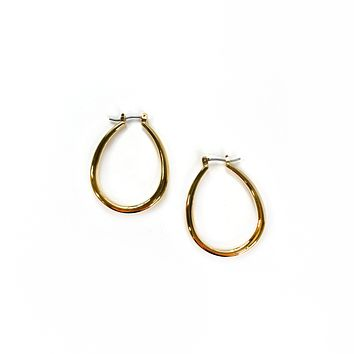 Sleek Gold Hoop Earrings