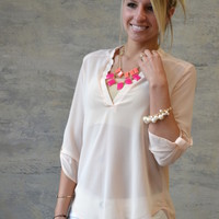Pure & Simple Top - Peach
