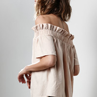 Lucca Couture Crepe Voile Off-The-Shoulder Top at PacSun.com