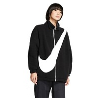 Nike Women's NSW Oversized Swoosh Reversible Sherpa Jacket Black