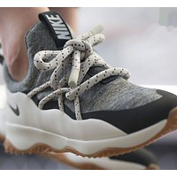 NIKE fashion trendy women's fashion knit running shoes pink and white