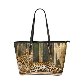 Tote Bags, Brown Exotic Tiger Style Bag