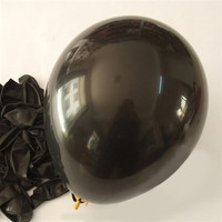 Latex Solid Balloons, 12-inch, 12-Piece, Black