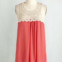 Boho Mid-length Sleeveless Blog Days of Summer Top by ModCloth