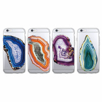 Crystal Stone Agate Pattern Printed Soft Clear Phone Case Coque Fundas Cover For iPhone 7 7Plus 6 6S 5 5S SE 5C SAMSUNG