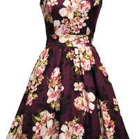 Darling Damson Bouquet Tea Dress