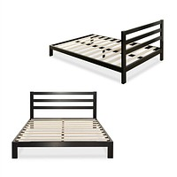 Full Size Metal Platform Bed Frame with Headboard
