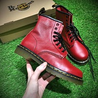 Newest Dr. Martens Modern Classics 1460 Retro Red Leather Boots 524952