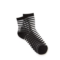 Sheer Stripe Crew Socks