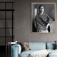 Frida Kahlo art print Women black and white Canvas Painting Poster Print Unique Decor Wall Art Pictures For Living Room Bedroom