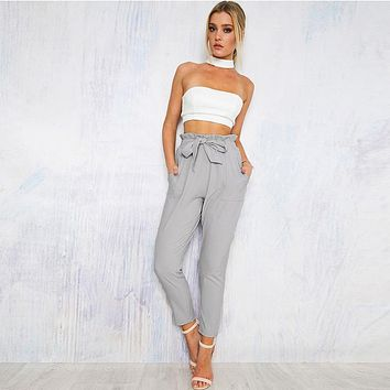 fhotwinter19 Hot-selling hot-selling fashion all-match waistband slim-fit pencil pants