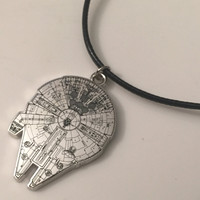 The Millennium Falcon Necklace, Star Wars Necklace, Star Wars, Gift for Him, Boyfriend Gift, The Millennium Falcon, Christmas Gift
