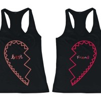 BFF Heart Friendship Matching Tank Tops - 365 Printing Inc