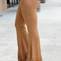 Hide Away Fringe Bell-Bottom Pants