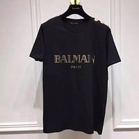 NEW 100% Authentic  Balmain women and men t shirt ※003