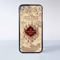 Harry Potter Vintage Map Of Mischief  Plastic Case Cover for Apple iPhone 6 6 Plus 4 4s 5 5s 5c
