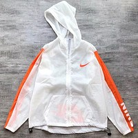"""NIKE"" Fashion New Hoodie Zipper Cardigan Sweatshirt Jacket Coat Windbreaker Sportswear White Orange I-AA-XDD"