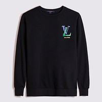 Louis Vuitton LV new round neck graffiti letters printed sweater