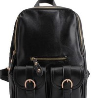 Retro British Style Cute Fashion Backpack-Black from styleonline