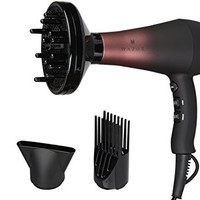 Wazor Professional Hair Dryer Ionic Ceramic Tourmaline Blow Dryer 1875W Far Infrared Heat Dryer With 3 Blow Dry Attachments and Heat&Speed Settings for Hair Styling